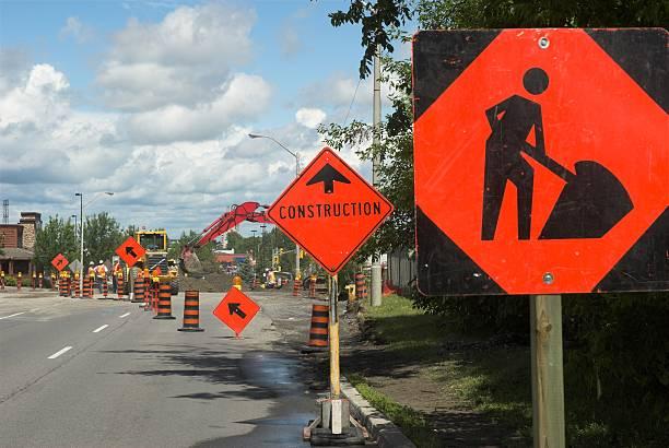 Under construction. stock photo