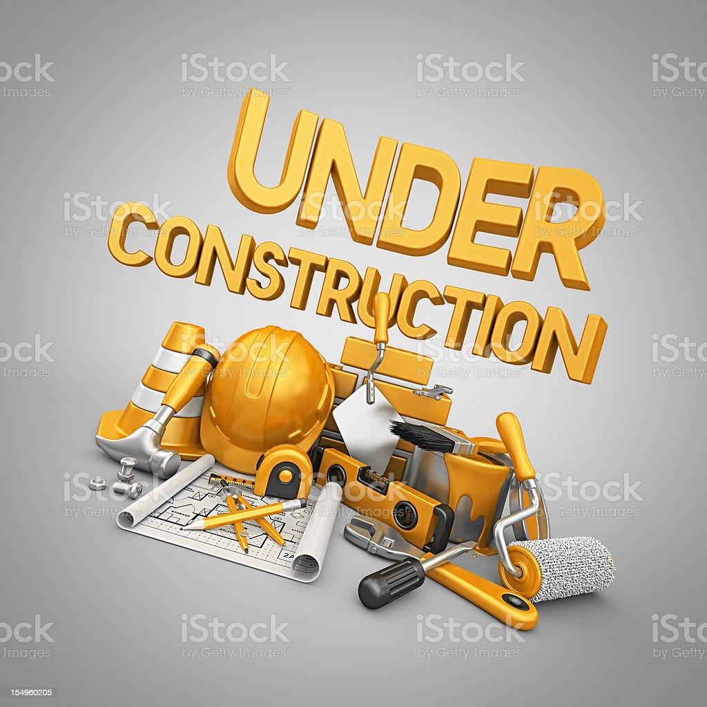 under construction royalty-free stock photo