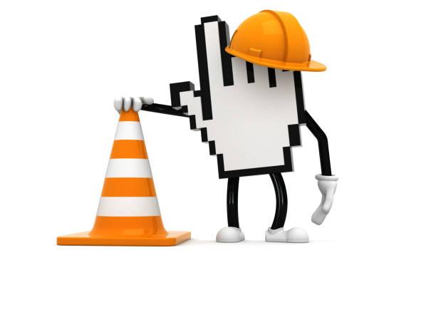 WWW in costruzione - foto stock