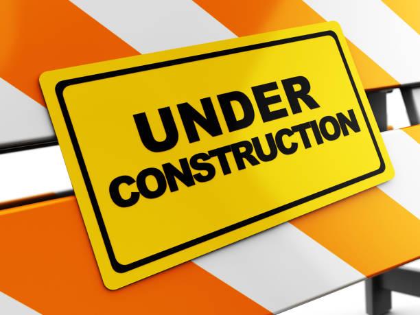 under construction - foto stock