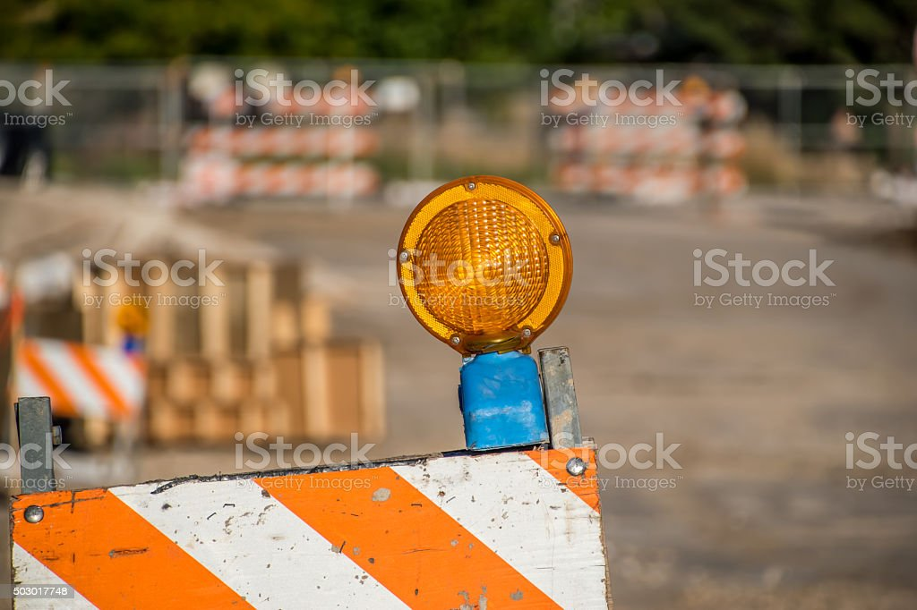 Under Construction - road work stock photo