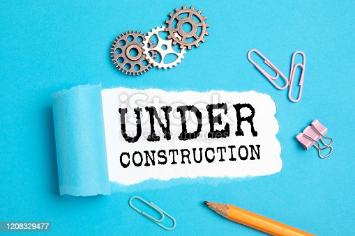 istock Under Construction. Service, Website, Communication and Warning Concept 1208329477