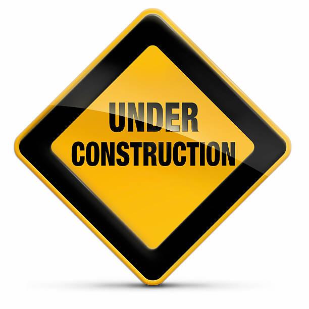 In costruzione segno - foto stock