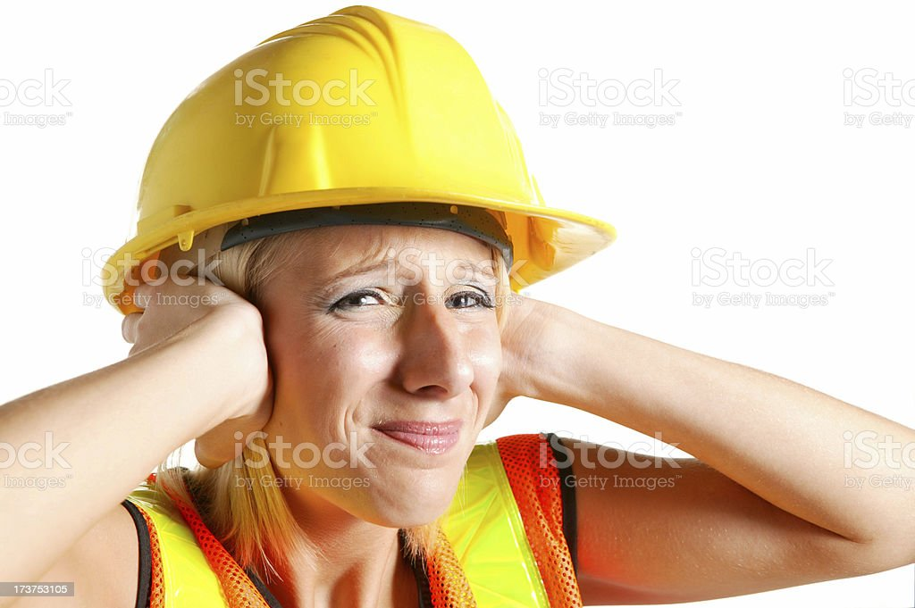 under construction too loud royalty-free stock photo