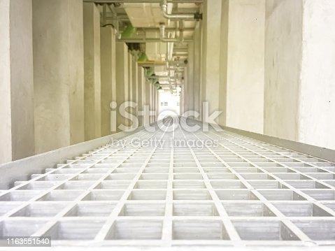 628471550 istock photo Under cooling tower with the support 1163551540