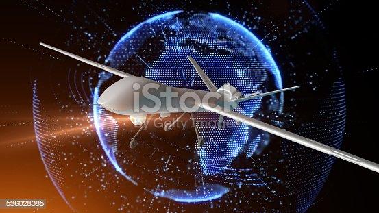 533534481 istock photo UAV under digital earth 536028085
