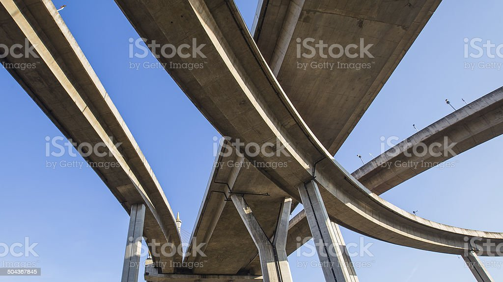 Under Expressway intersection stock photo