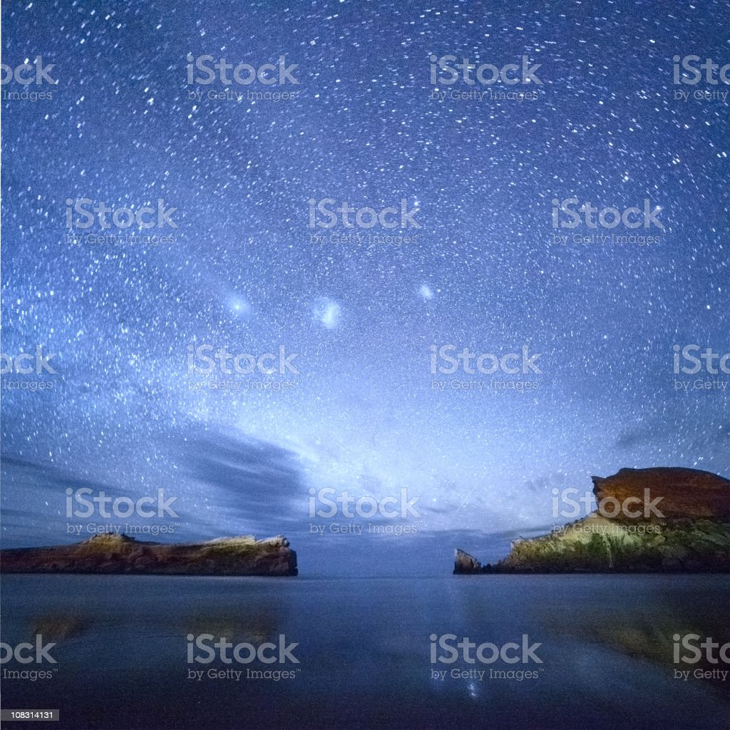 Under Milky Way stars stock photo