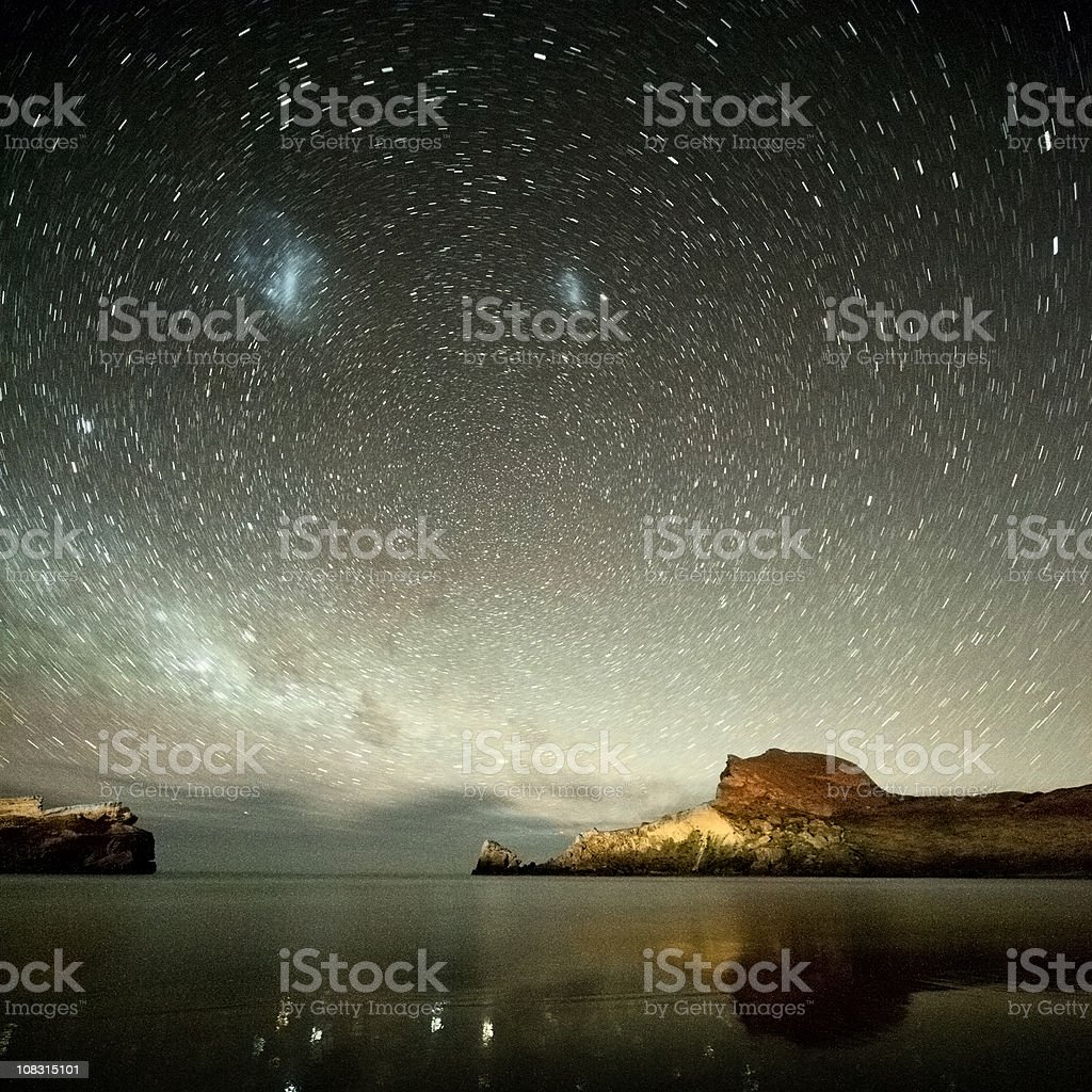Under Milky Way stars royalty-free stock photo
