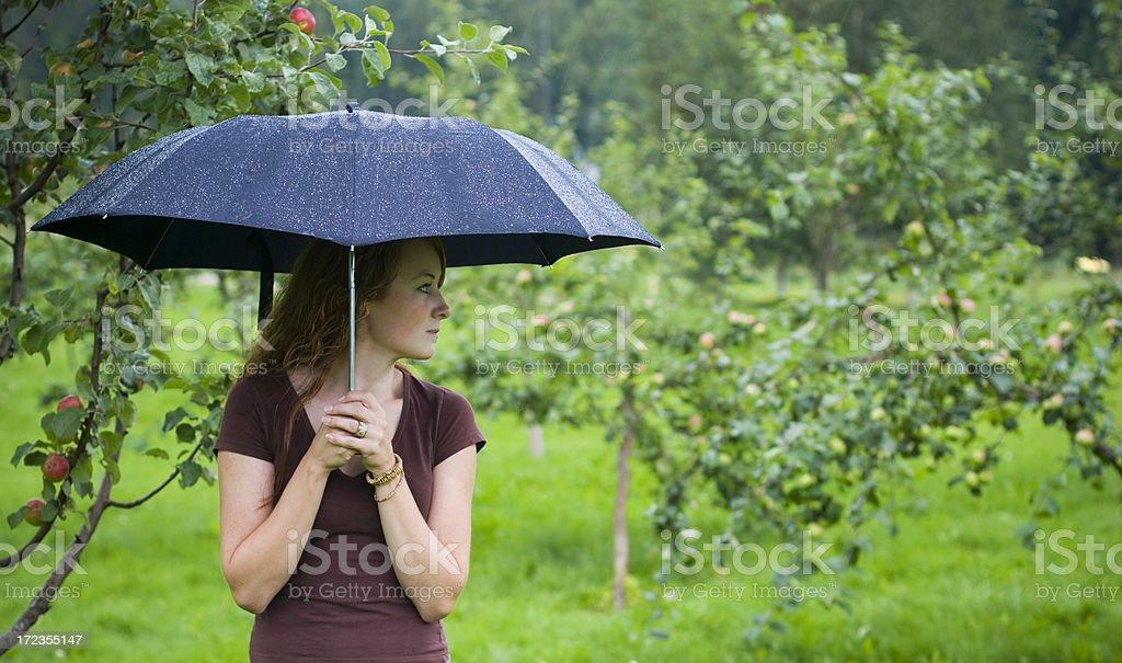 Under my umbrella royalty-free stock photo