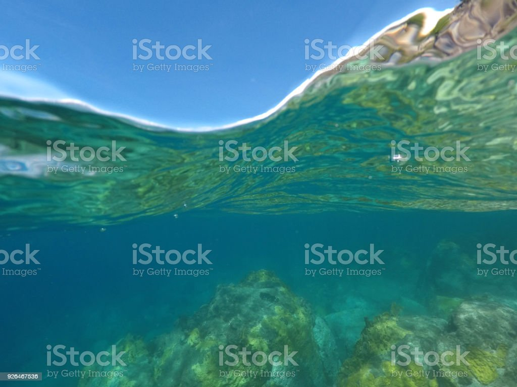 Reflective Caribbean: Under Over The Water Showing The Beautifully Reflective