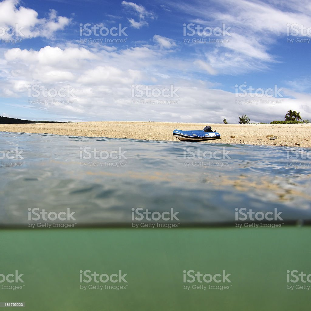 Under over water beach landscape royalty-free stock photo