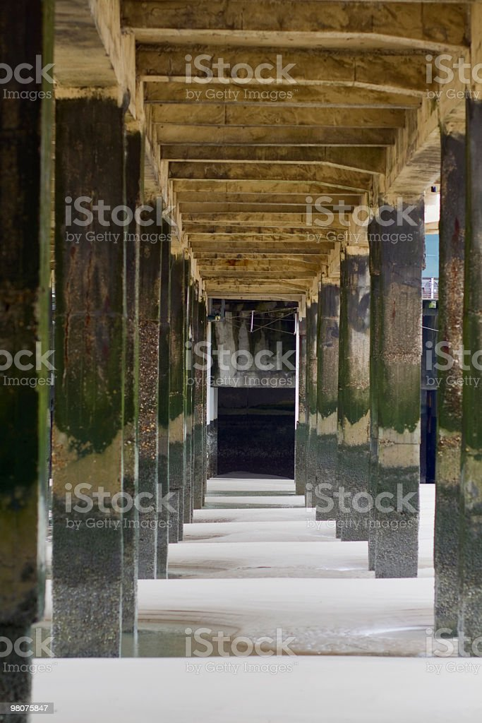 Under pier royalty-free stock photo