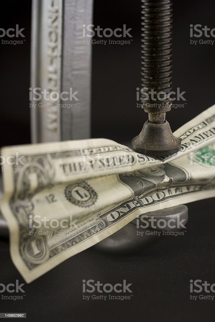 Under pressure royalty-free stock photo