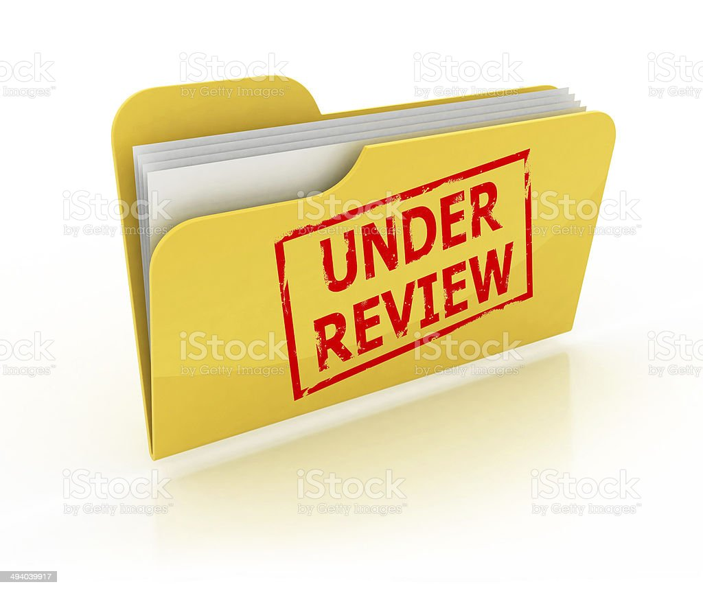 under review folder icon stock photo