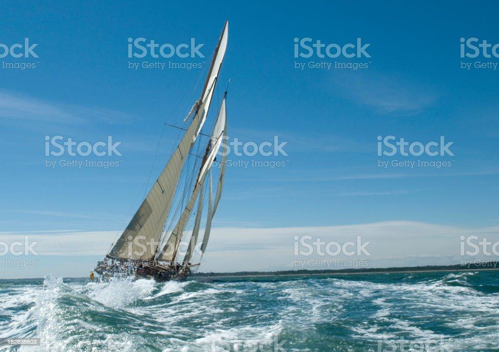 Under sail stock photo