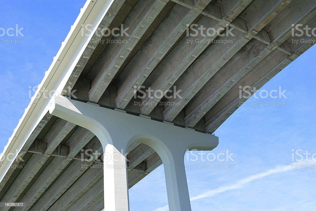 Under Side of Concrete Arch Bridge royalty-free stock photo