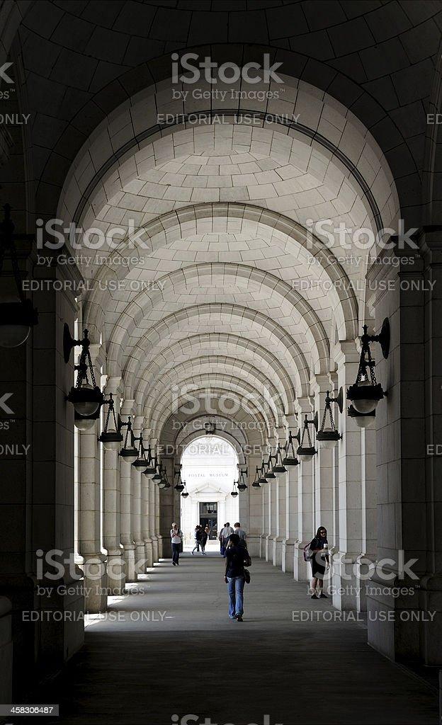 Under the Arches at Union Station Washington royalty-free stock photo