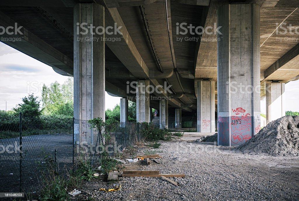 Under the Autobahn stock photo