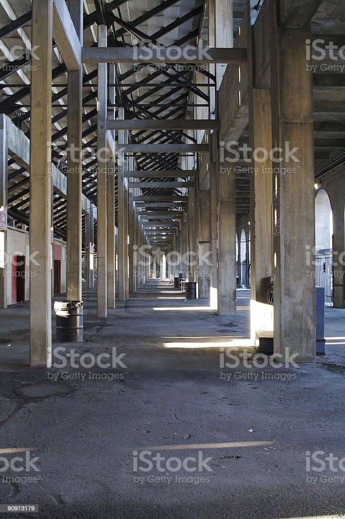 Under the Bleachers stock photo