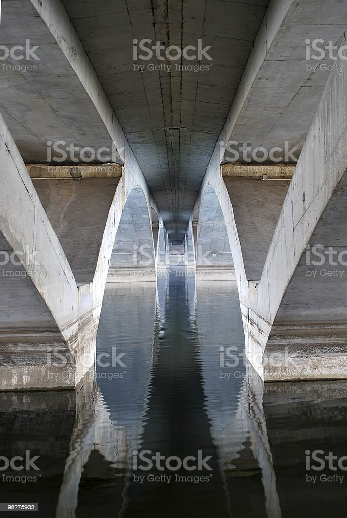 Under the bridge royalty-free stock photo
