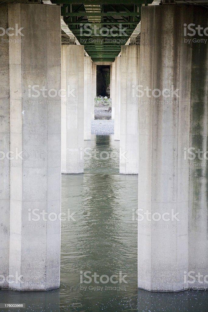 Under the Bridge vertical royalty-free stock photo