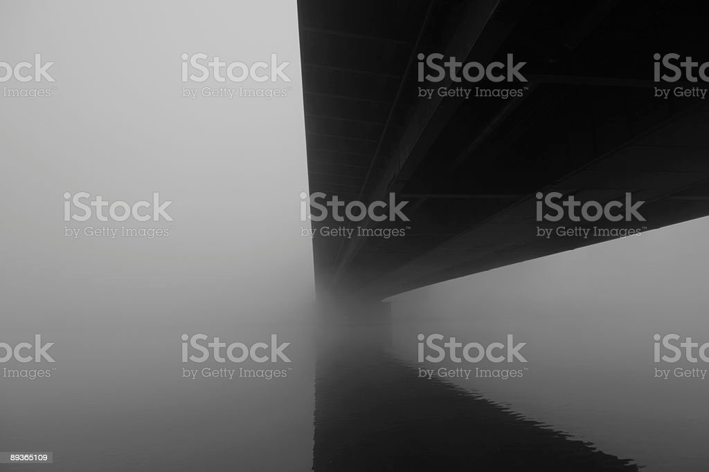 Under the bridge with fog Part 2 royalty-free stock photo