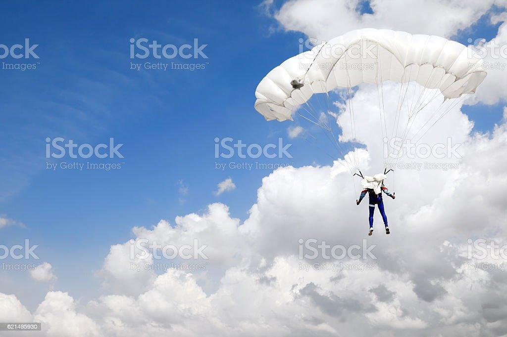 Sous les nuages photo libre de droits