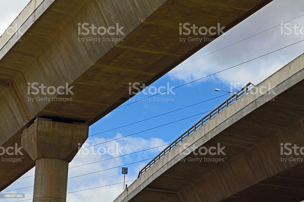 Under the flyover in Melbourne's east royalty-free stock photo