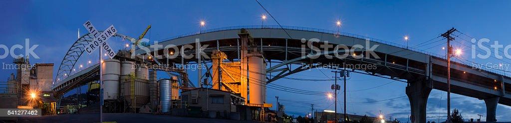 Under the Freemont Bridge stock photo