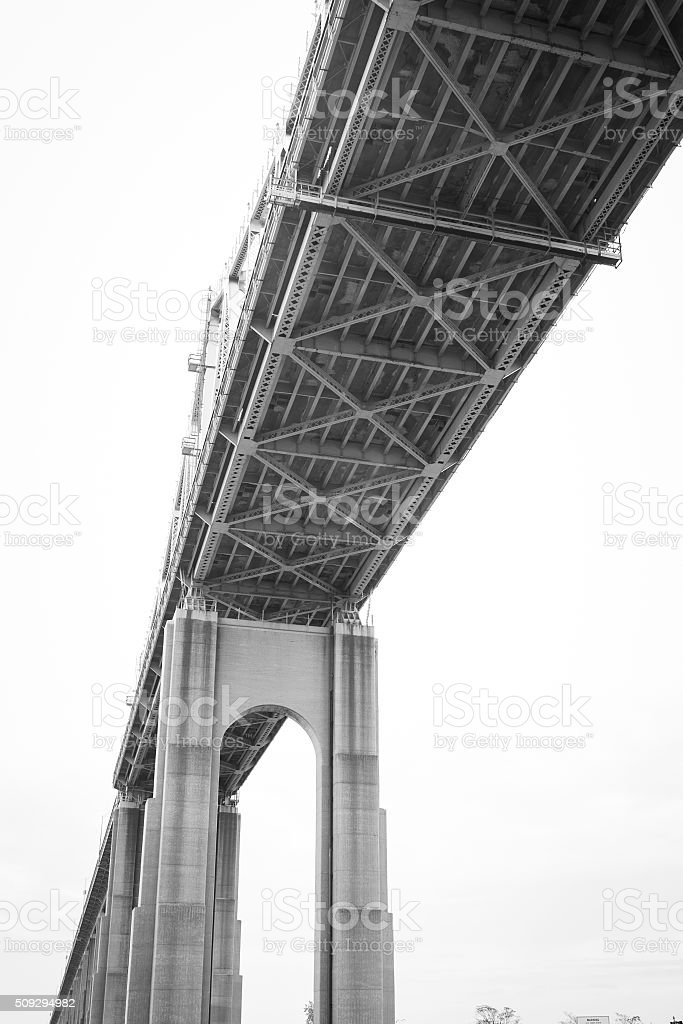 Under the Goethals Bridge stock photo