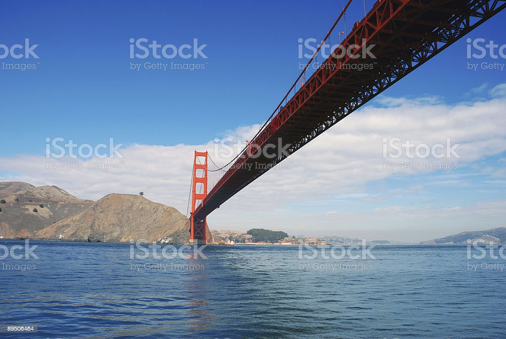 under the golden gate royalty-free stock photo