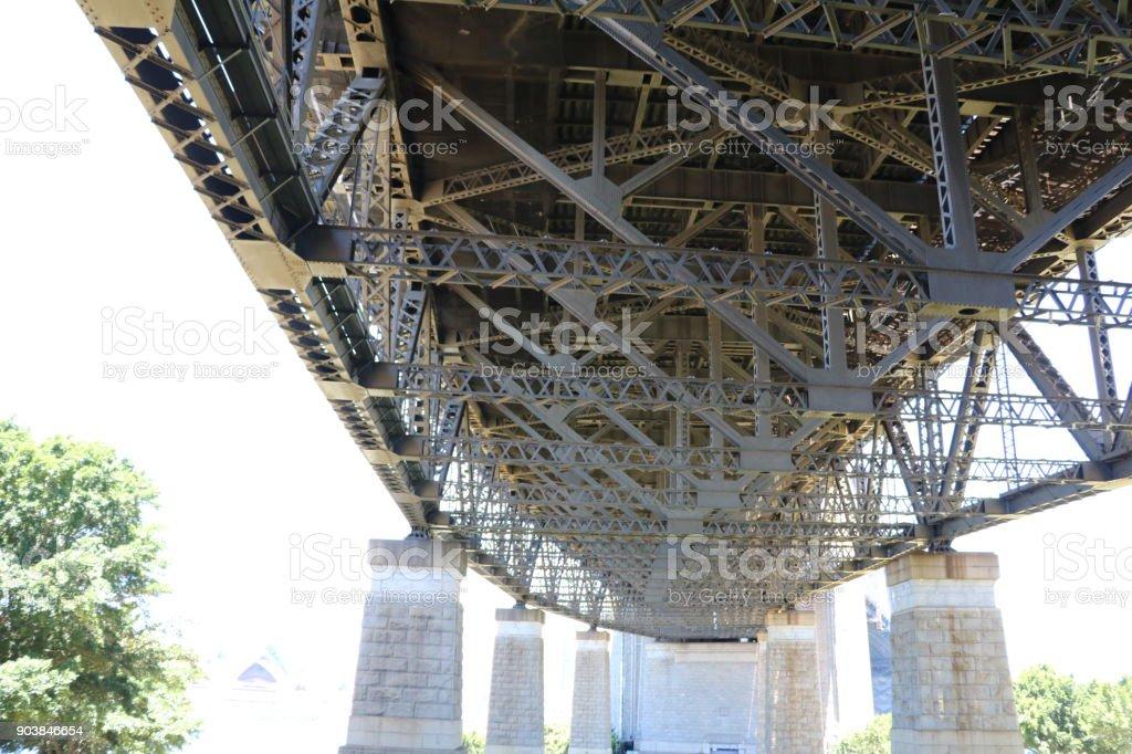 Under the Harbour Bridge in Sydney, New South Wales Australia stock photo