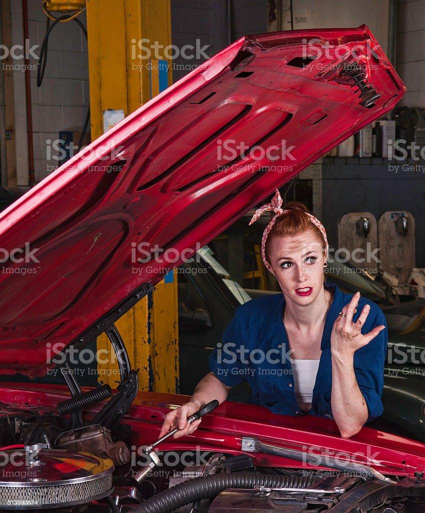 Under the hood stock photo
