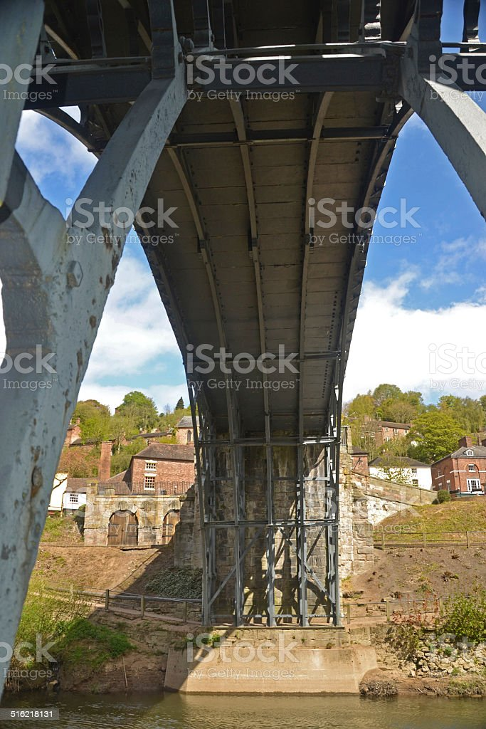 Under the Ironbridge stock photo