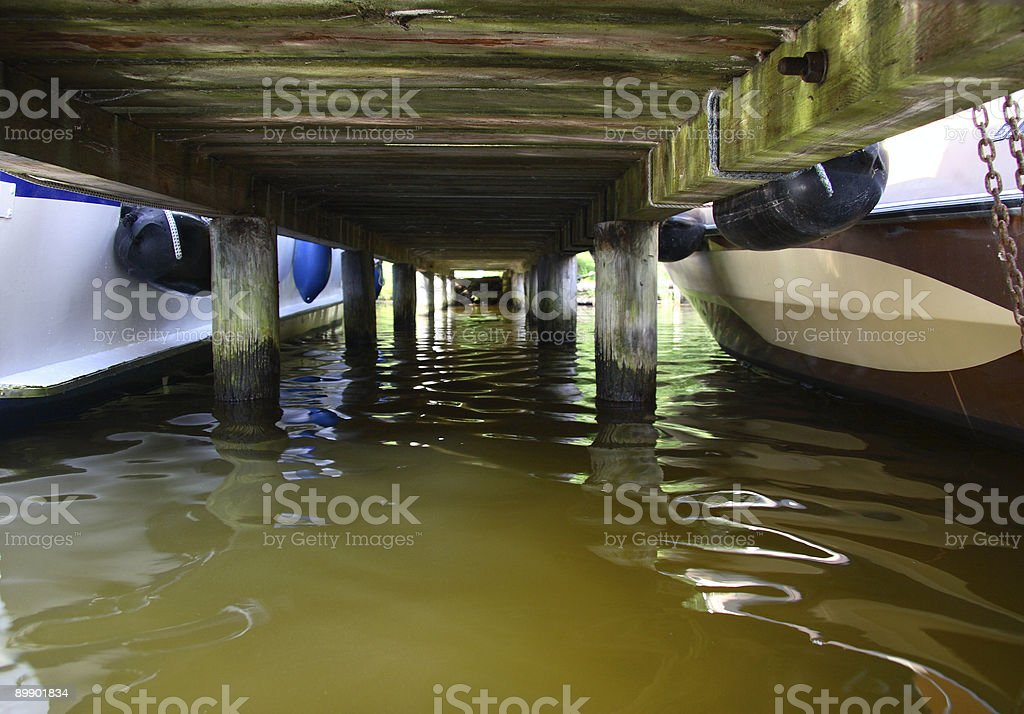 Under the jetty royalty-free stock photo