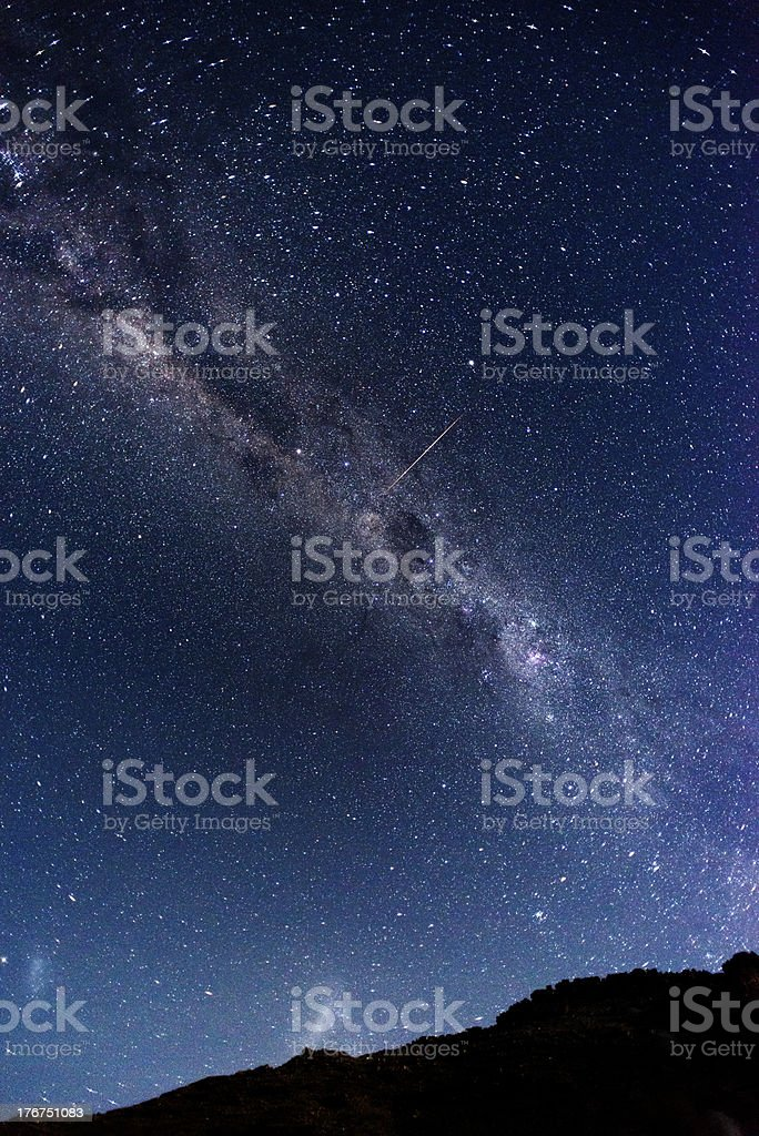Under the milky way royalty-free stock photo