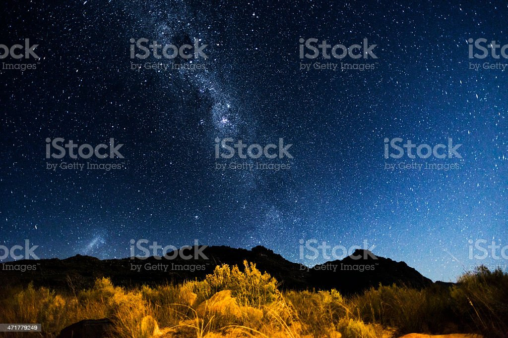 Under the milky way Big rocks in the  Cederberg landscape Africa Stock Photo