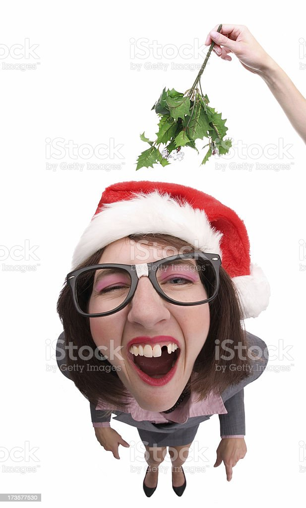 Under The Mistletoe royalty-free stock photo