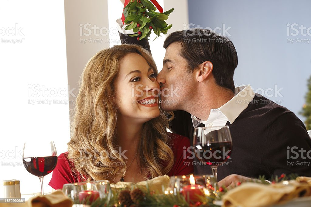 Under the Mistletoe stock photo