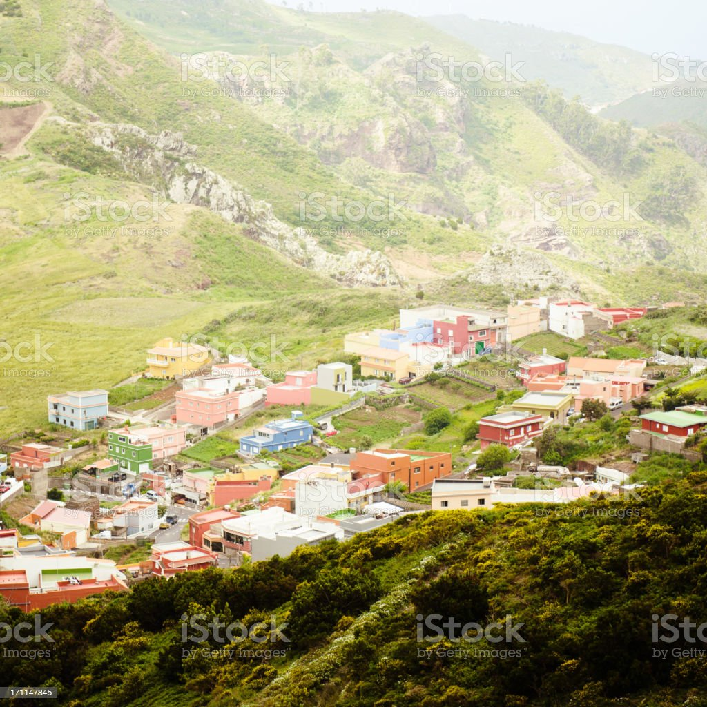 Under the mountain on Tenerife royalty-free stock photo