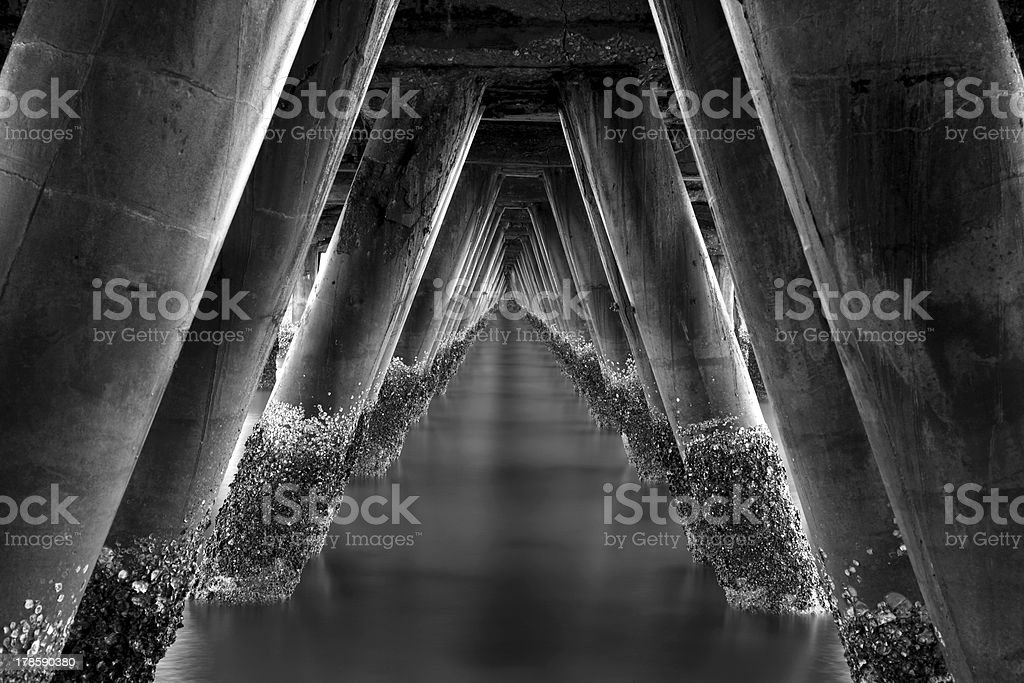Under the old bridge royalty-free stock photo