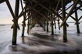 Under Folly Beach pier, SC