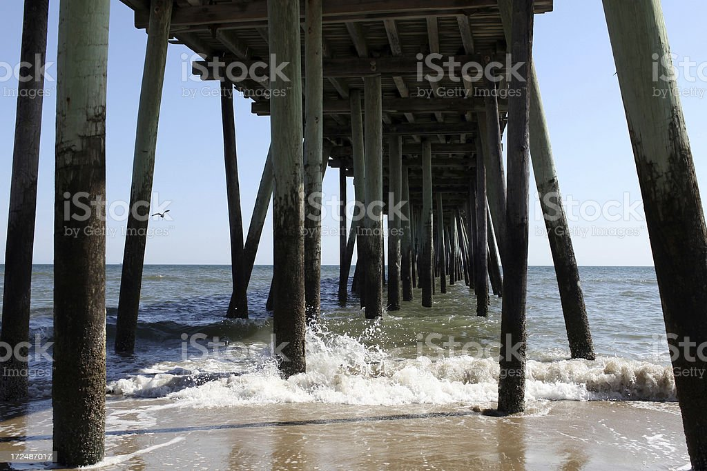 Under the Pier royalty-free stock photo