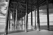 The beautiful pier along Pismo Beach in Central California.