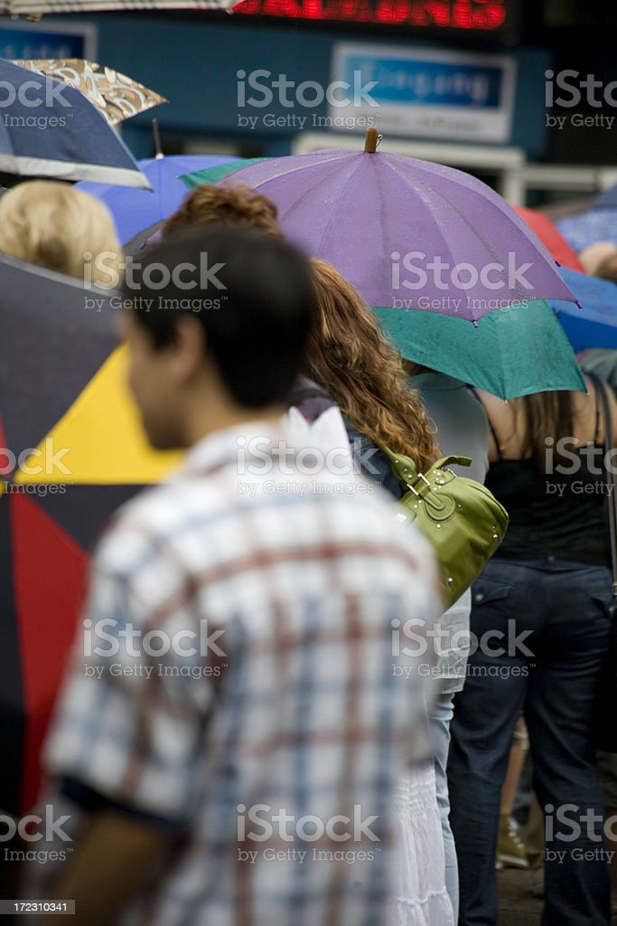 under the rain royalty-free stock photo