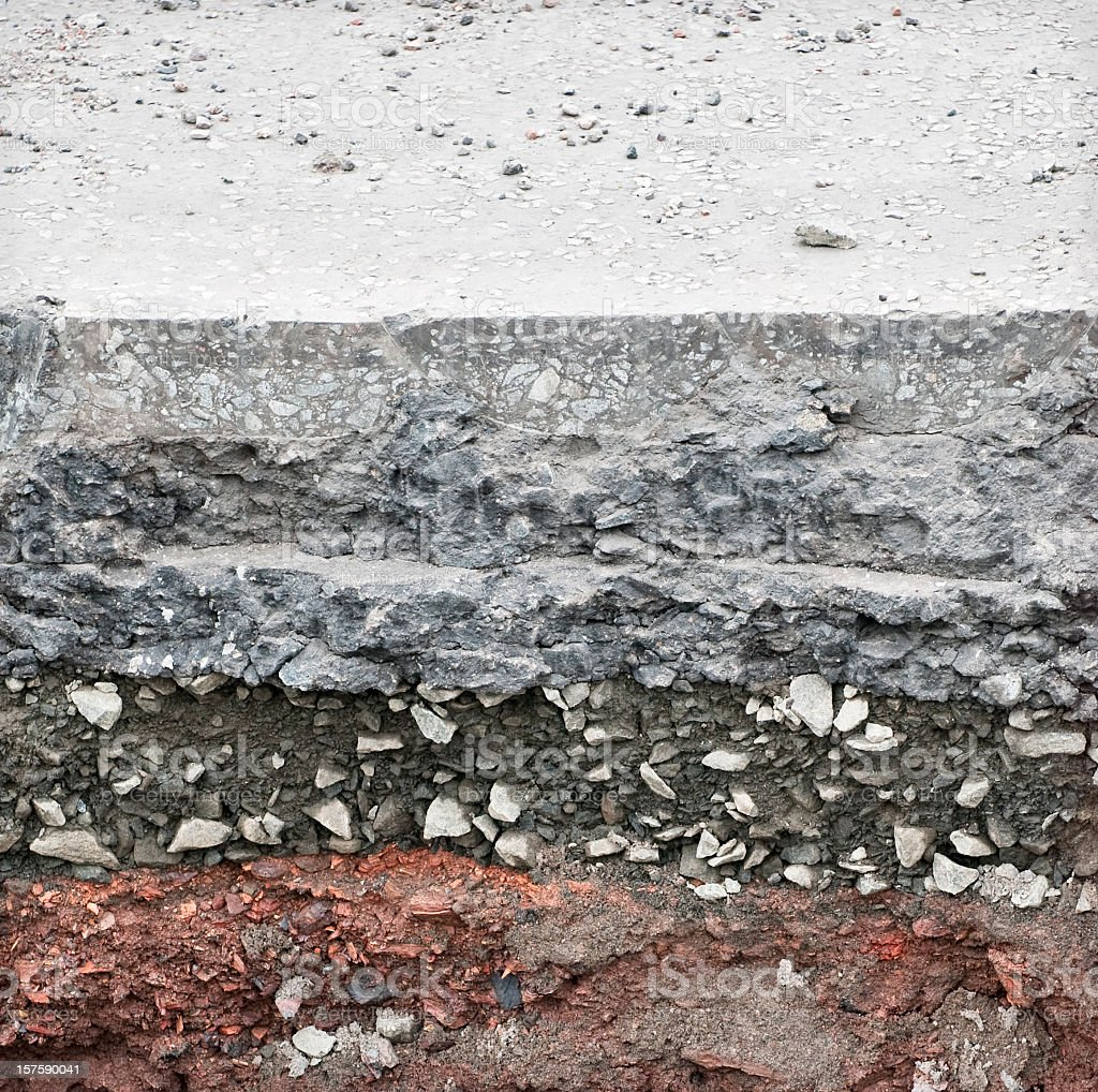 Under the Road Surface royalty-free stock photo