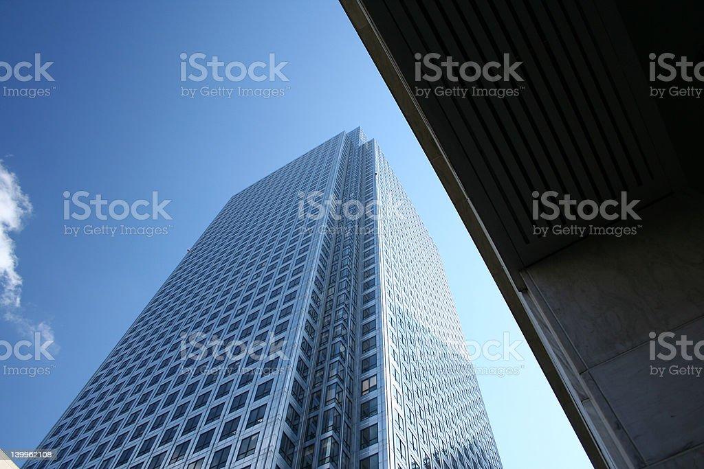 Under The Sky Scraper royalty-free stock photo