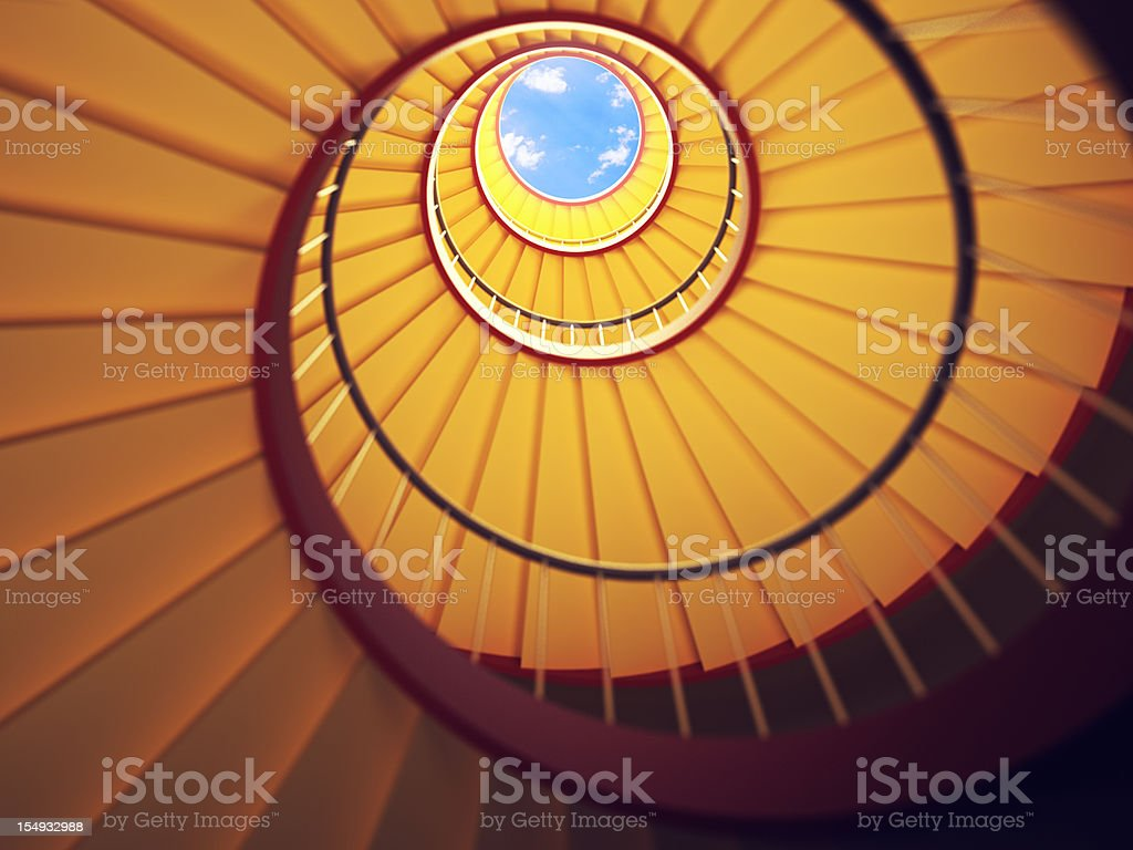 Under the Stairs royalty-free stock photo