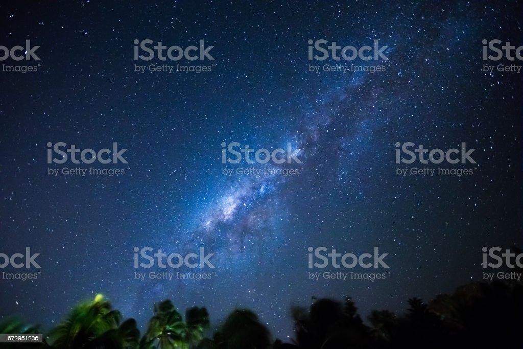 Beautiful Milky Way as seen from the Zanzibar island .
